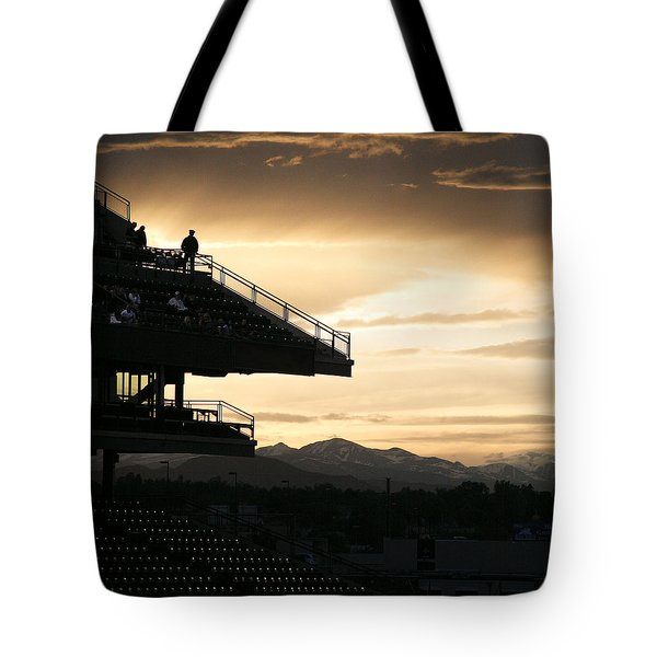 The Beauty Of Baseball In Colorado Tote Bag by Marilyn Hunt
