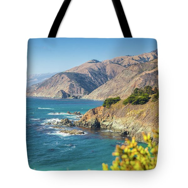 The Beauty Of Big Sur Tote Bag by JR Photography