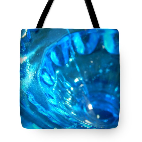The Beauty Of Blue Glass Tote Bag