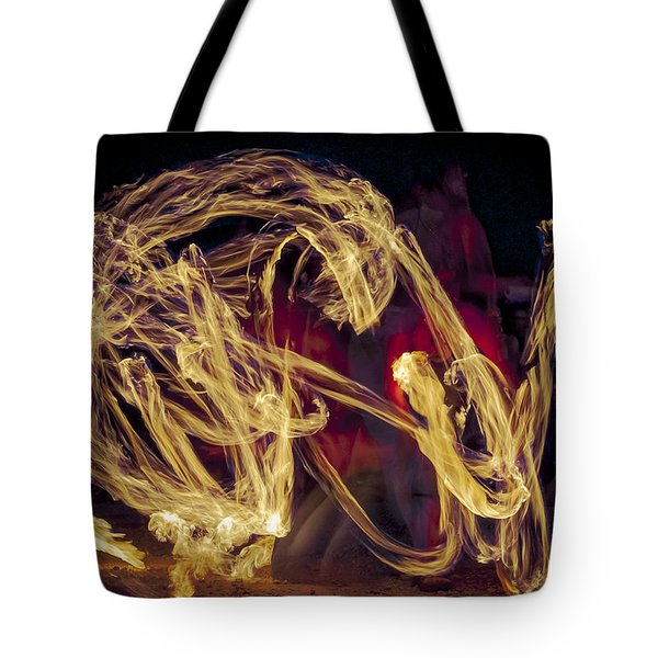 The Beauty Of Fire Tote Bag by Karen Musick
