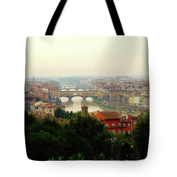 Tote Bag featuring the photograph The Beauty Of Florence  by Alan Lakin