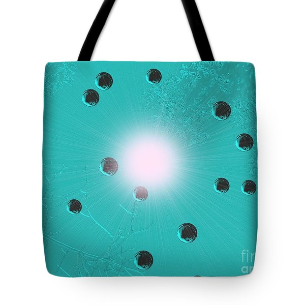 The Beauty Of Ophelias Despair Or Metal Bubbles Rise In Turquoise Water Tote Bag
