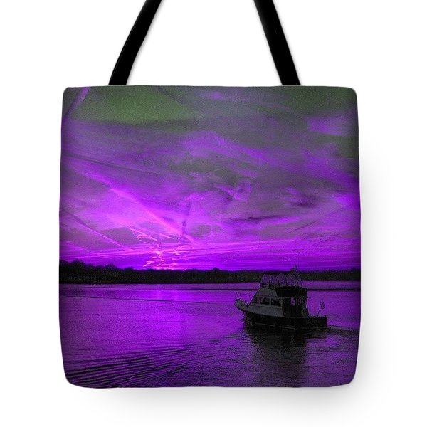 The Beauty Of Purple Tote Bag by Lauren Fitzpatrick