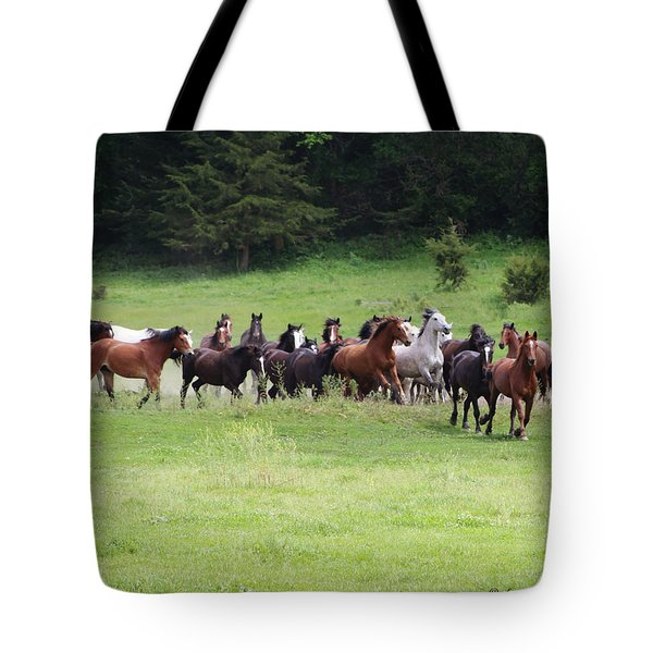 The Beauty Of Running  Tote Bag
