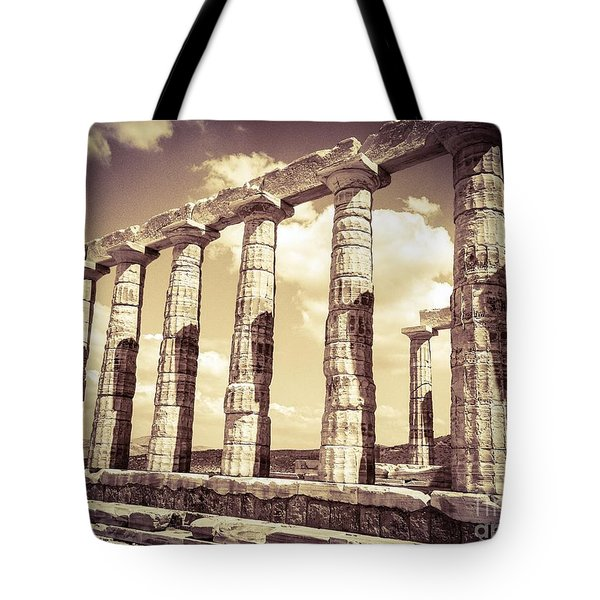 The Beauty Of The Temple Of Poseidon Tote Bag