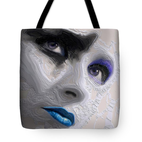 The Beauty Regime Blue Tote Bag by ISAW Gallery