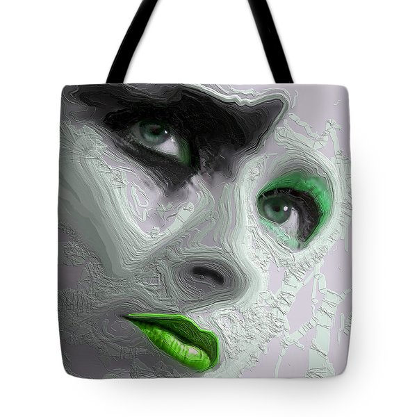 The Beauty Regime Green Tote Bag by ISAW Gallery