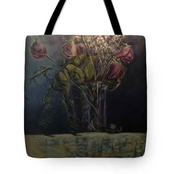 Tote Bag featuring the painting The Beauty That Remains by J Reynolds Dail