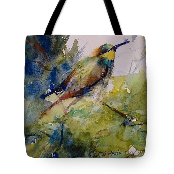 Tote Bag featuring the painting The Bee Eater by Sandra Strohschein