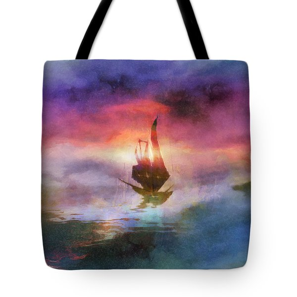 The Belated Boat Tote Bag
