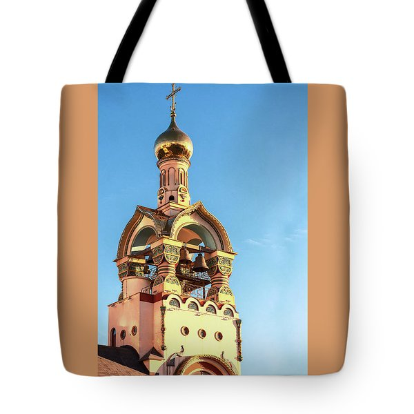 The Bell Tower Of The Temple Of Grand Duke Vladimir Tote Bag