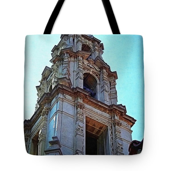 The Bell Tower - Riverside California Tote Bag