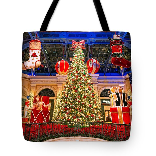 The Bellagio Christmas Tree 2015 Tote Bag by Aloha Art