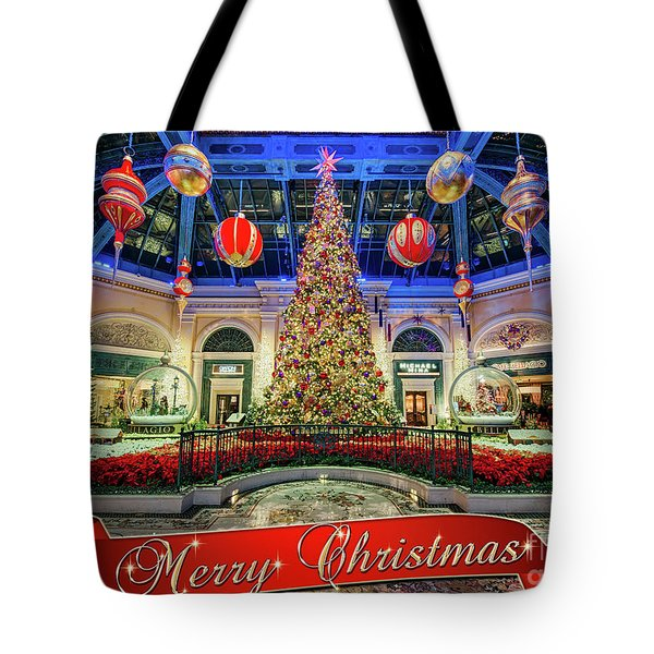 The Bellagio Conservatory Christmas Tree Card 5 By 7 Tote Bag