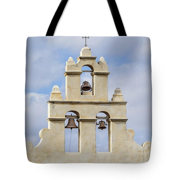 Tote Bag featuring the photograph The Bells Of San Juan by Mary Jo Allen