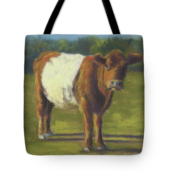 The Belted Cow Tote Bag by Terri  Meyer