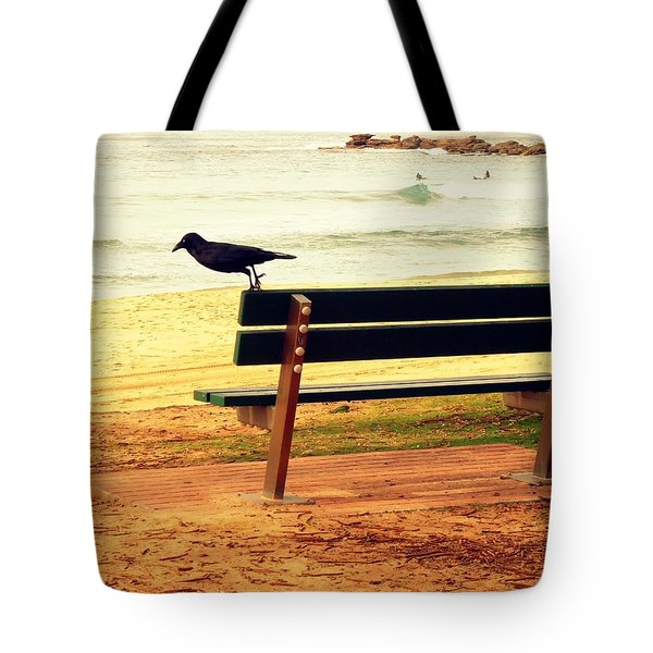 The Bench And The Blackbird Tote Bag