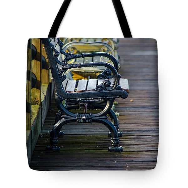 The Bench Tote Bag by Mary Ward