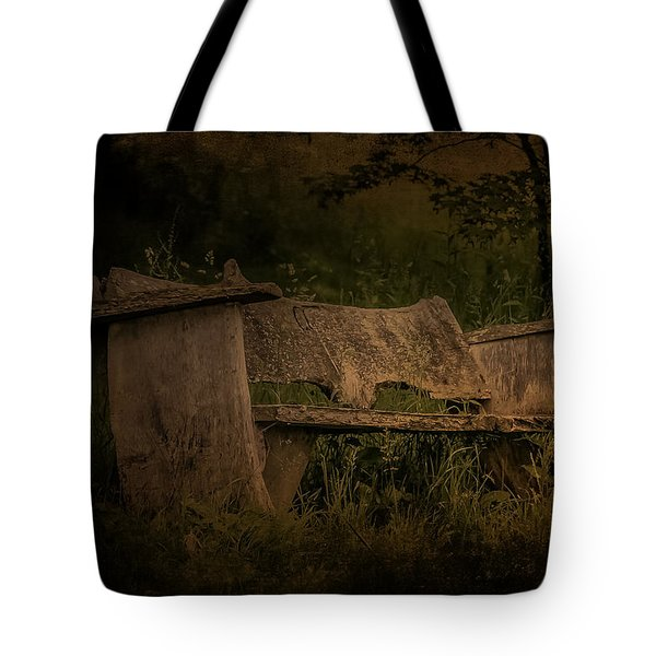 Tote Bag featuring the photograph The Bench by Ryan Photography