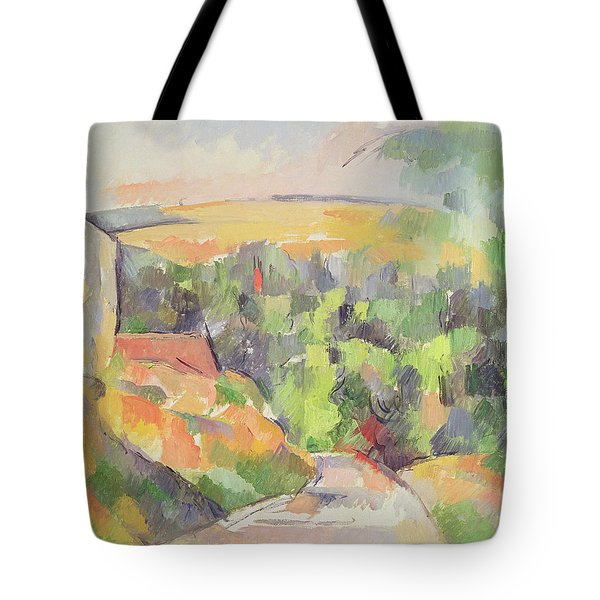 The Bend In The Road Tote Bag by Paul Cezanne