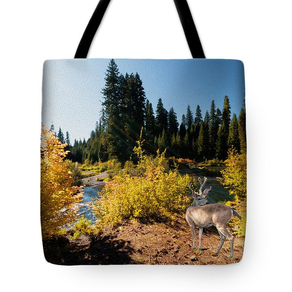 The Bend Of The Rogue River Tote Bag by Diane Schuster