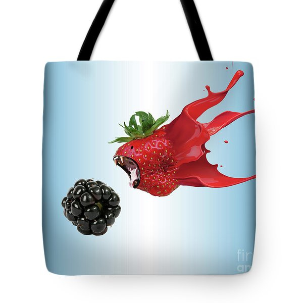 Tote Bag featuring the photograph The Berries by Juli Scalzi