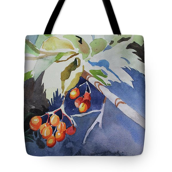 Tote Bag featuring the painting The Berries by Kris Parins