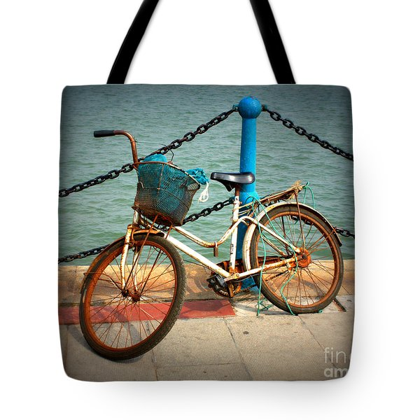 The Bicycle Tote Bag by Carol Groenen