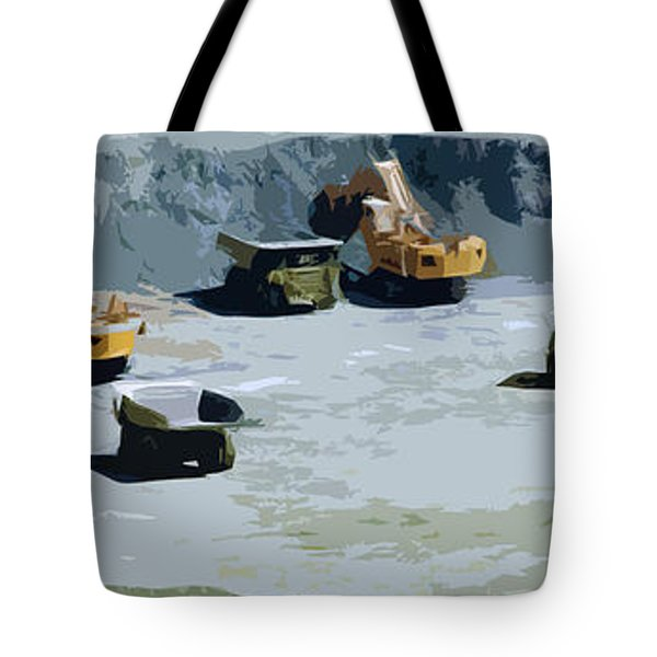 The Big Dig Tote Bag by Phill Petrovic