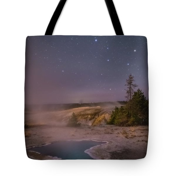 The Big Dipper In Yellowstone National Park Tote Bag