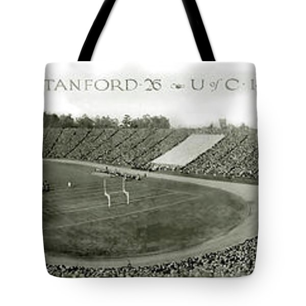 Stanford And U Of C 1925 Tote Bag by Jon Neidert
