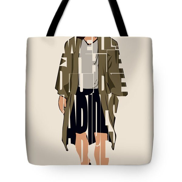 The Big Lebowski Inspired The Dude Typography Artwork Tote Bag
