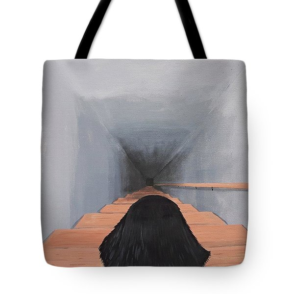 The Big Stairs Go Down Forever Tote Bag
