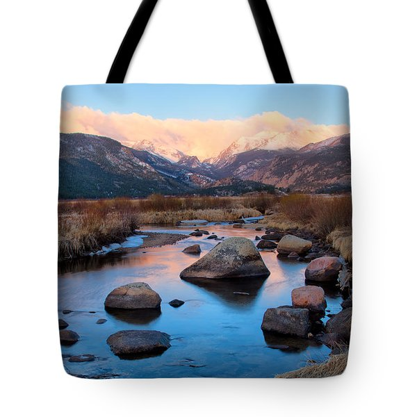 The Big Thompson River Flows Through Rocky Mountain National Par Tote Bag