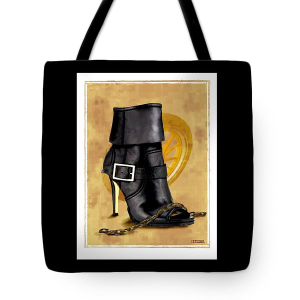 The Biker Boot Tote Bag by Jann Paxton