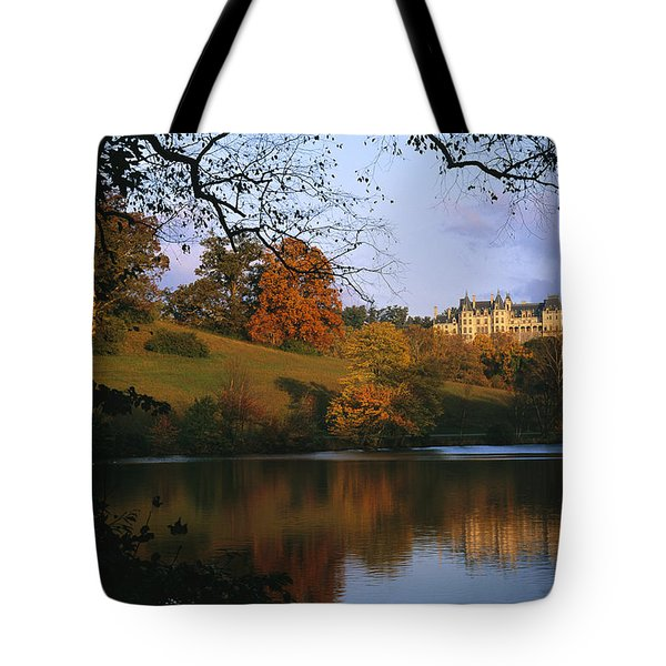 The Biltmore Estate Is Reflected Tote Bag