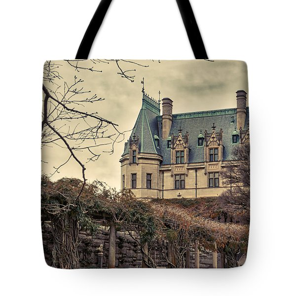 The Biltmore Mansion In The Fall Tote Bag