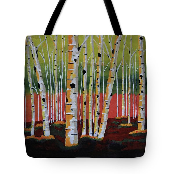 The Birch Forest Tote Bag by Kathleen Sartoris