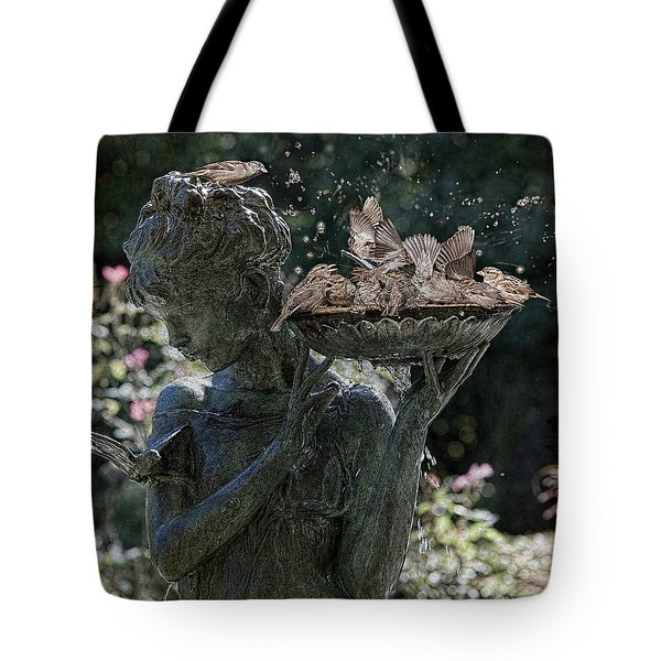 The Bird Bath Tote Bag