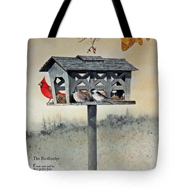 The Birdfeeder Tote Bag by Monte Toon