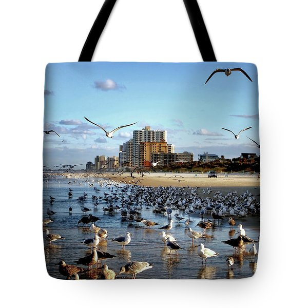 Tote Bag featuring the photograph The Birds by Jim Hill