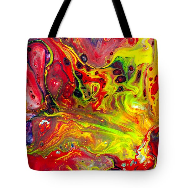 The Birth Of Diamonds - Abstract Colorful Mixed Media Painting Tote Bag