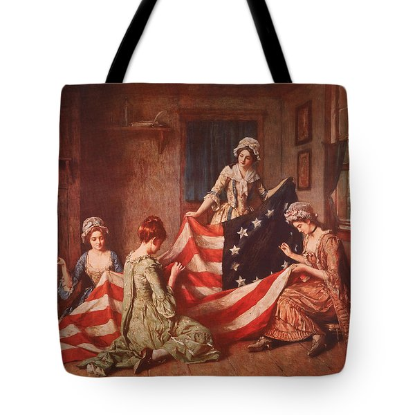The Birth Of The Flag Tote Bag