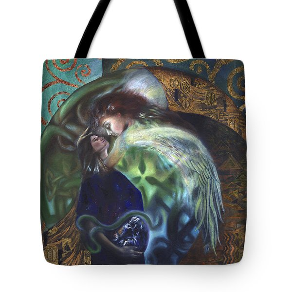 Tote Bag featuring the painting The Birth Of The World by Ragen Mendenhall