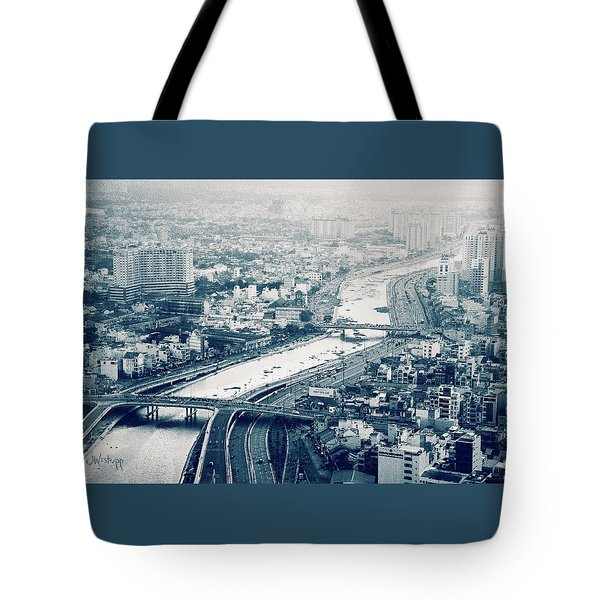 The Bisection Of Saigon Tote Bag by Joseph Westrupp