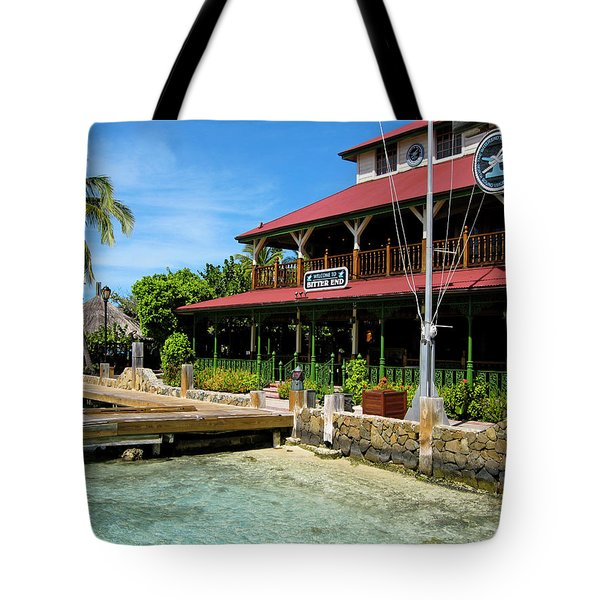 Tote Bag featuring the photograph The Bitter End Yacht Club by Adam Romanowicz