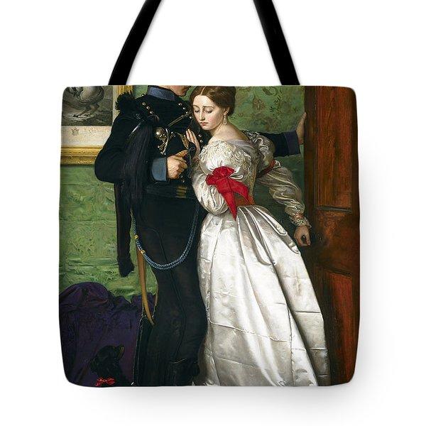 The Black Brunswicker Tote Bag by Sir John Everett Millais