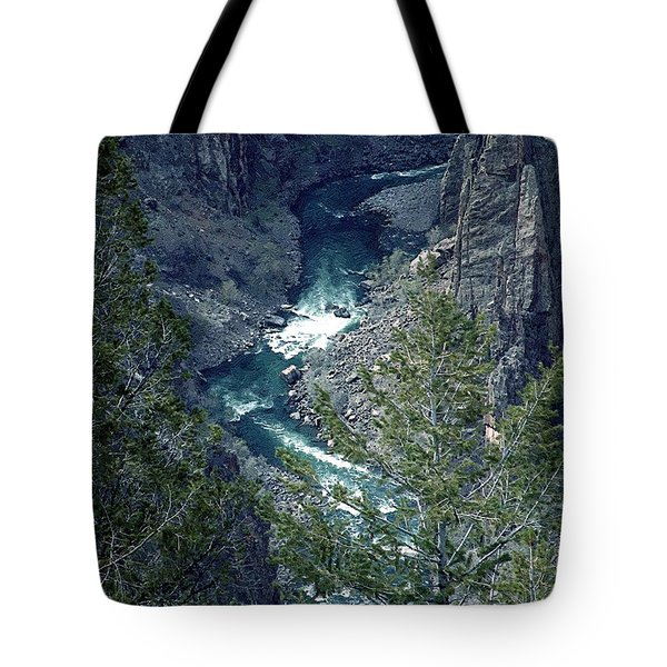 Tote Bag featuring the painting The Black Canyon Of The Gunnison by RC DeWinter