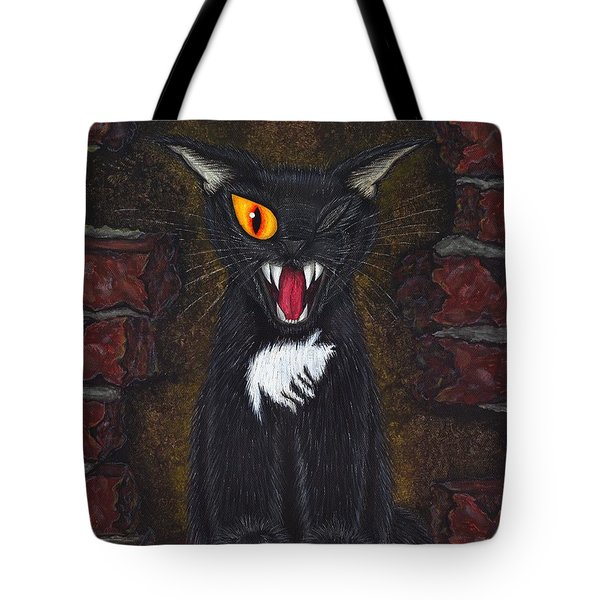 The Black Cat Edgar Allan Poe Tote Bag