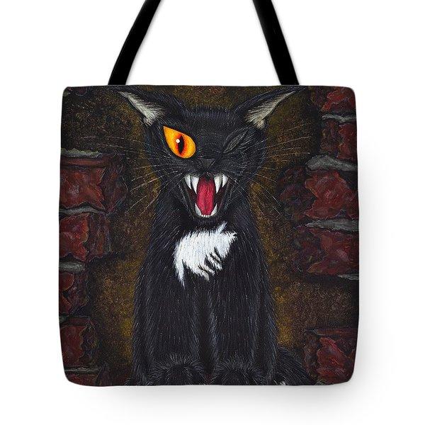The Black Cat Edgar Allan Poe Tote Bag